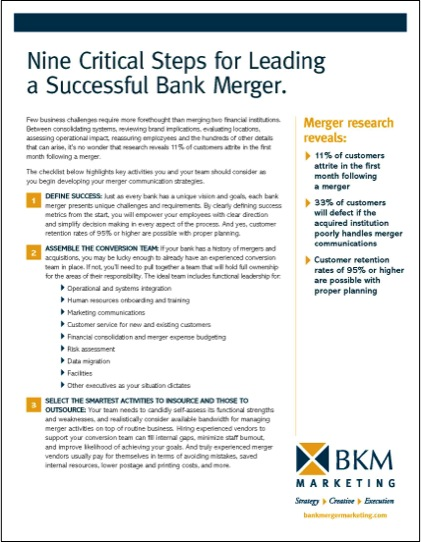 What are the critical steps to leading a successful bank merger?